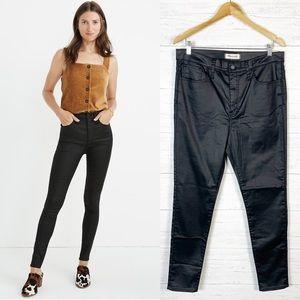 """Madewell NWT Black 10"""" High Rise Skinny Jeans 32"""